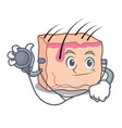 doctor skin character cartoon style vector image