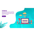 domain concept with character template for banner vector image vector image