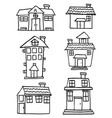 doodle of house style set collection vector image vector image