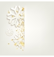 elegant christmas backgroundconfetti isolated vector image vector image