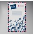 Flat UI banner Color envelope vector image vector image