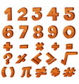 font design for numbers vector image vector image