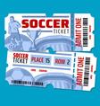 football soccer championship tickets vector image vector image