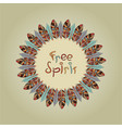free spirit round frame vector image vector image