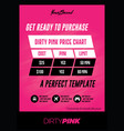 futuristic dirty pink promo flyer or poster templa vector image vector image