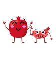 Garnet Cute fruit character couple vector image vector image