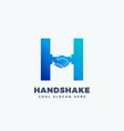 handshake abstract sign symbol or logo vector image vector image