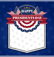 happy presidents day banner background vector image vector image