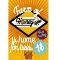 Honey farm banner vector image vector image