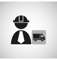 industry construction icon vector image vector image