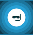 isolated aqualung flat icon scuba diving vector image vector image