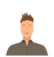 isolated male avatar vector image vector image