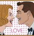 laughing man and women in love vector image