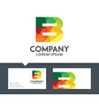 letter b - logo design vector image vector image