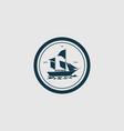 logo sailboat vintage badge style vector image