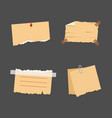 old torn paper with ragged edge vintage note vector image vector image