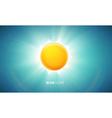 orange glowing sun eps 10 vector image vector image