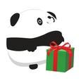 Panda and gift vector image