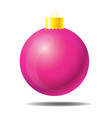 pink christmas ball 01 vector image