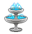 pixel small fountain detailed isolated vector image vector image