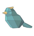 polygonal bird vector image