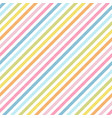 rainbow stripes seamless pattern diagonal texture vector image vector image