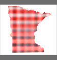 red dot map of minnesota vector image vector image