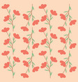 red flower seamless pattern design vector image vector image
