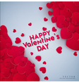 Red hearts on a gray background vector image vector image