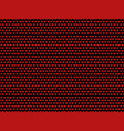 red hearts on black background pattern vector image vector image