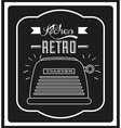 retro device vector image vector image