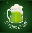 saint patrick day beer vector image