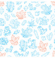 seamless background with blue and orange doodle vector image vector image