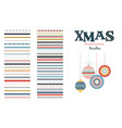 seamless christmas and winter pattern brushes vector image vector image