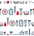 Seamless pattern Diabetes Medical flat icons vector image