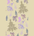 seamless pattern with christmas objects vector image