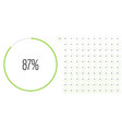 set circle percentage diagrams from 0 to 100 vector image