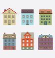 Set Of Vintage Building vector image