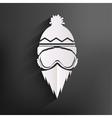 Snowboarder icon vector image