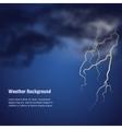 storm weather bg vector image
