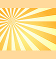 sun with rays star burst television vintage vector image vector image