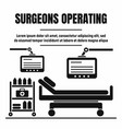 surgeons room bed concept background simple style vector image