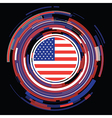 usa icon vector image vector image