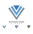 v letter logo template vector image vector image