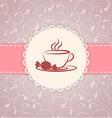 Vintage applique card background vector image vector image