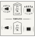 Vintage insignias and logotypes set vector image vector image