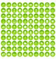100 woman shopping icons set green circle vector image vector image