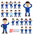 20 businessman characters vector image