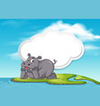 a hippopotamus in nature template vector image vector image