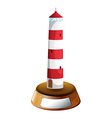 A tower-designed trophy vector image vector image